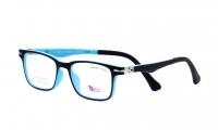 Success XS 0709/3 Szemüvegkeret - Kék, fekete, gyerek, előtétes